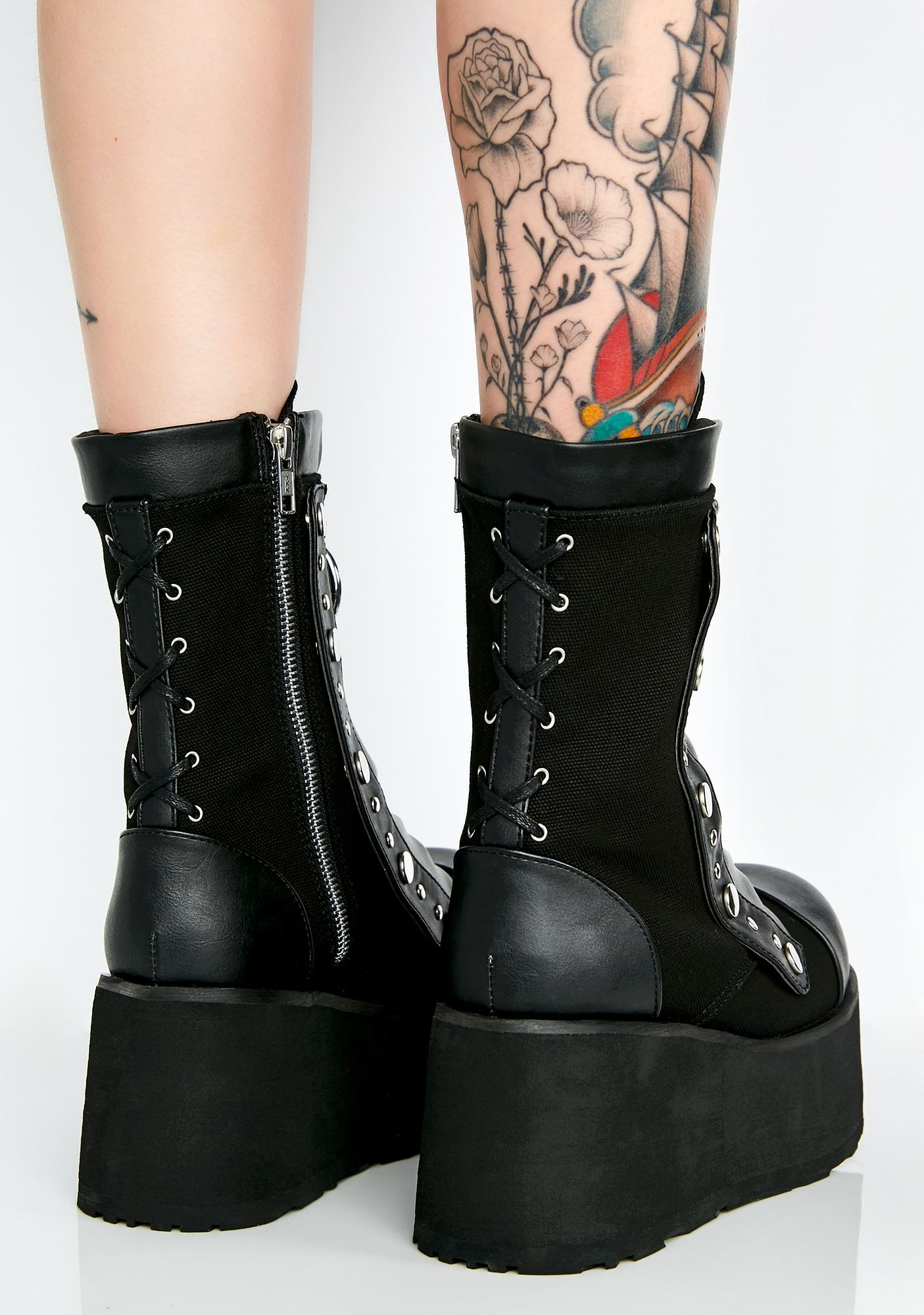 Demonia Ready To Rumble Platform Boots