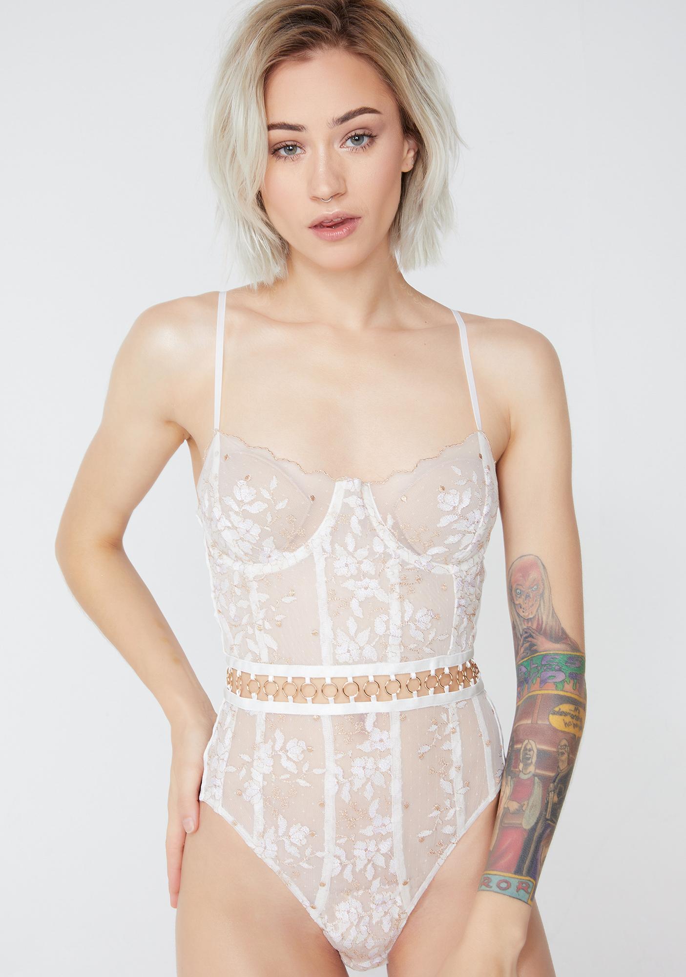 For Love & Lemons Mariette Embroidery Bodysuit