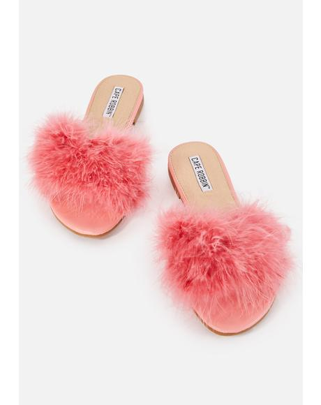 Pink Furrever Fluffy Sandals