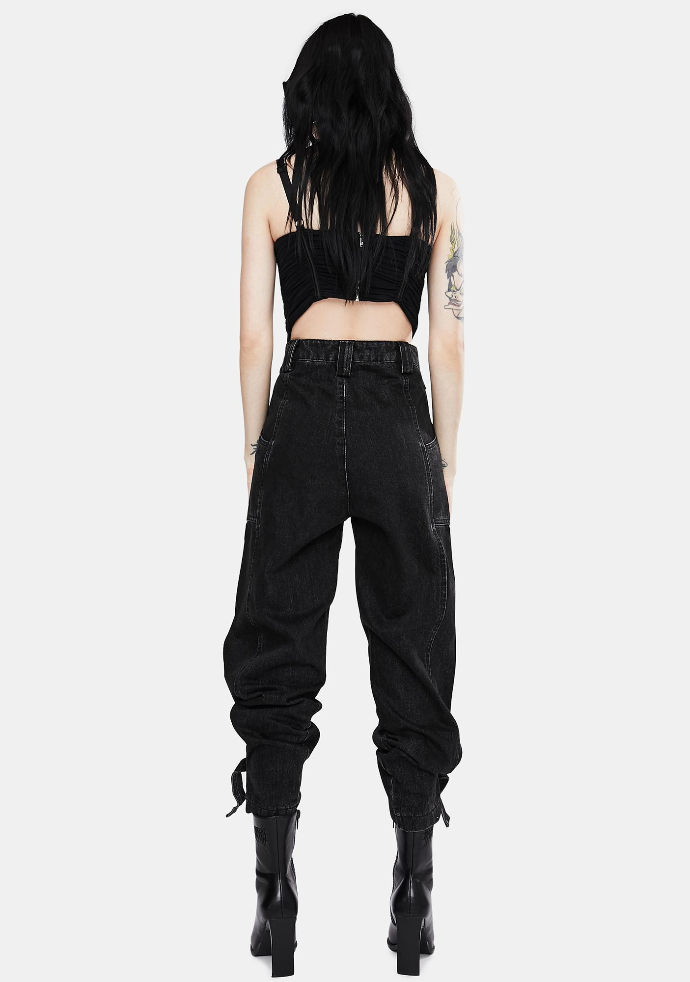 Neon Blonde Black Jolie High Waist Jeans