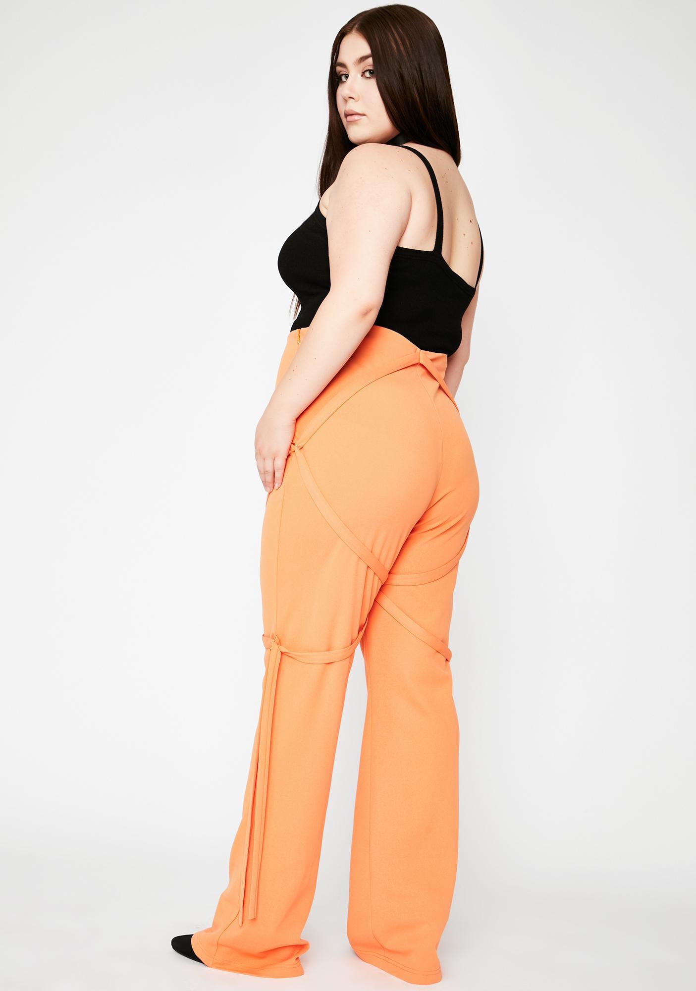 Tangerine Legit Undercover Heaux High Waisted Pants