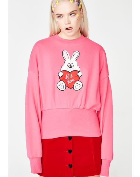 Not Here Bunny Sweatshirt