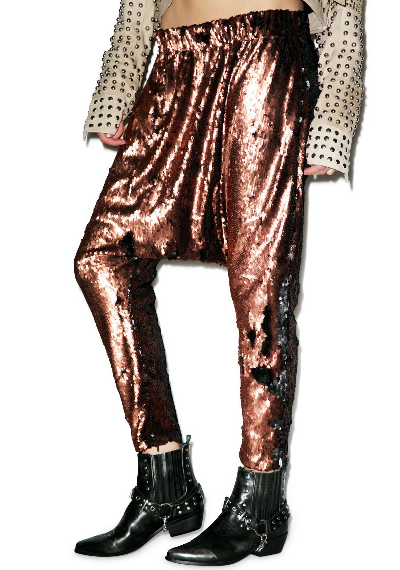 One Teaspoon Sahara Shimmer Sequin Harem Pants