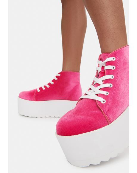 Light Pink Barletta Platform Sneaker