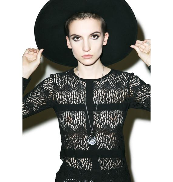 Disturbia Nightmare Lace Top