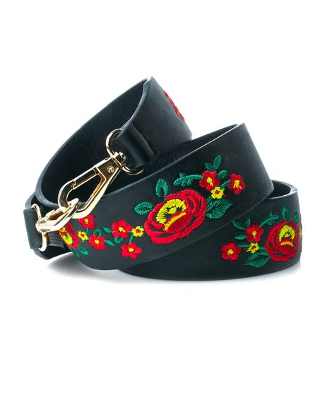 Wildflowers Embroidered Guitar Strap