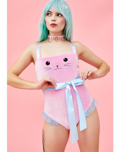 Bunny Blues Velvet Bodysuit