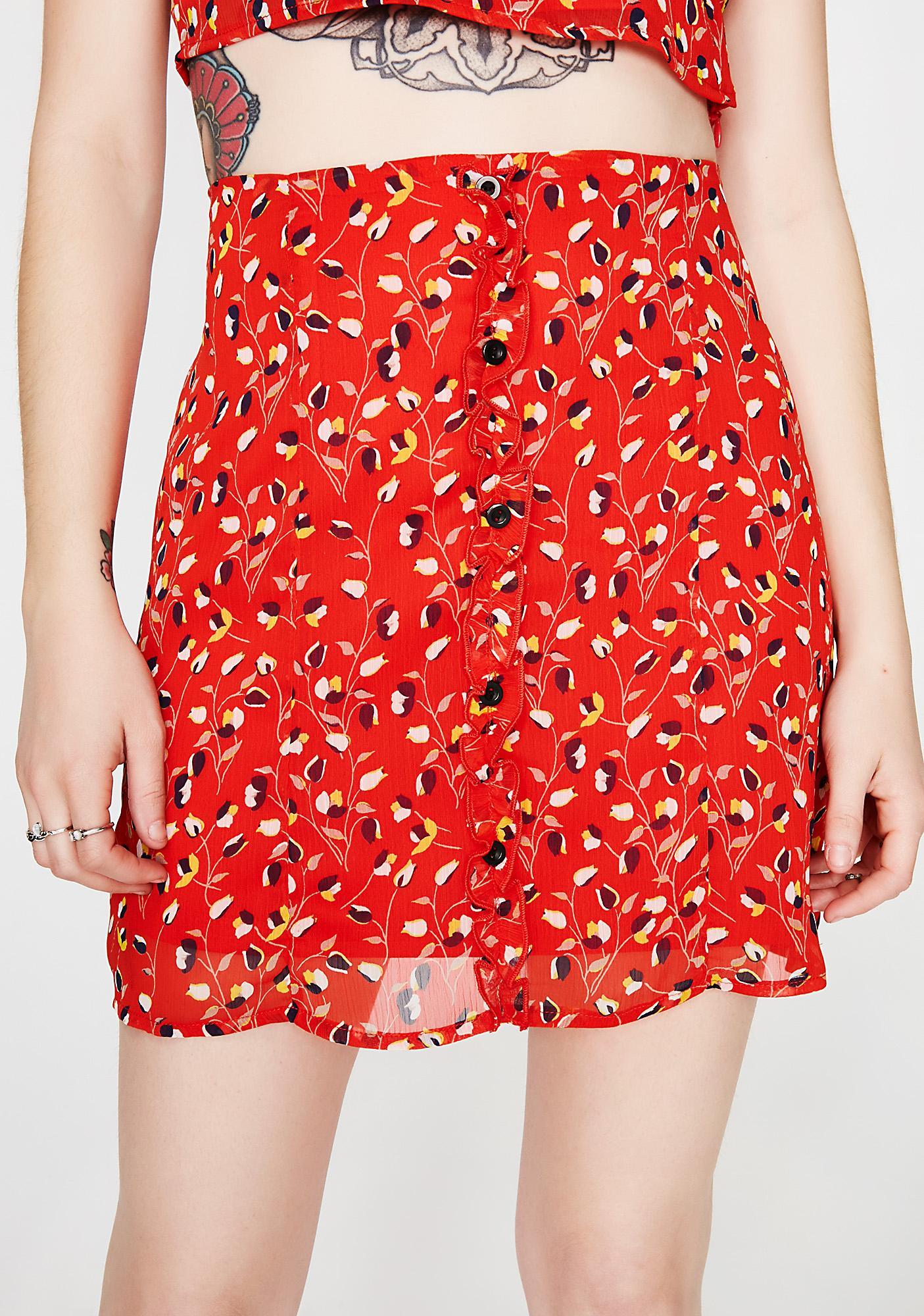 True Buds Floral Skirt
