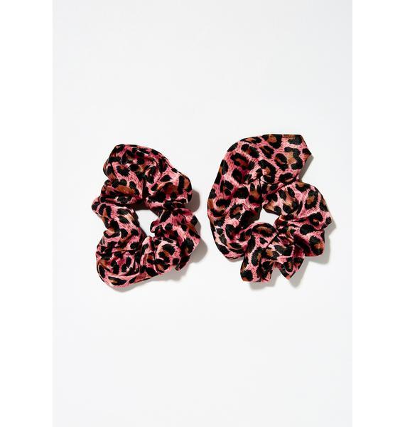 Runnin Wild Leopard Scrunchies