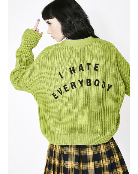 x Daria I Hate Everybody Cardigan