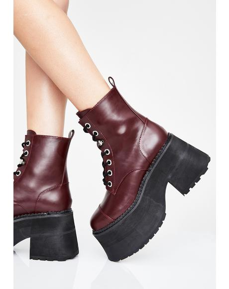 Stacked With Sass Combat Boots
