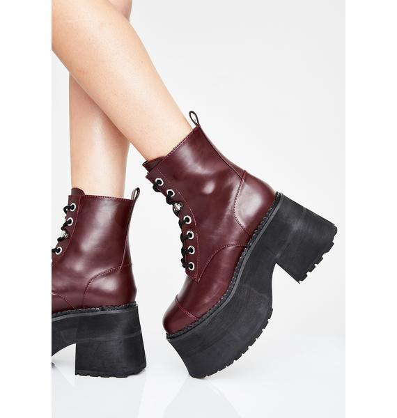 Current Mood Stacked With Sass Combat Boots