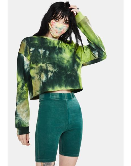 Olive Natural Trendsetter Tie Dye Sweatshirt