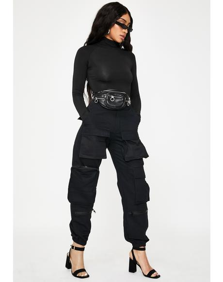 Black Slayer Pockets Pants
