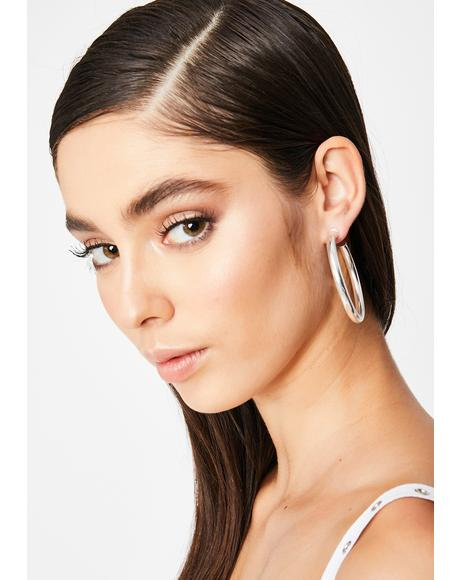 Thot Topic Hoop Earrings