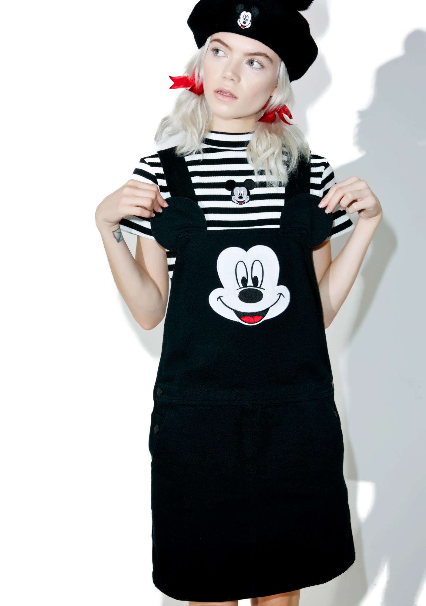Lazy Oaf X Disney Mickey Mouse Pinafore Dress  sc 1 st  Dolls Kill : first mickey mouse costume  - Germanpascual.Com