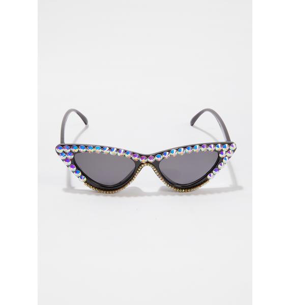 Give Me Glam Rhinestone Cat-Eye Sunglasses