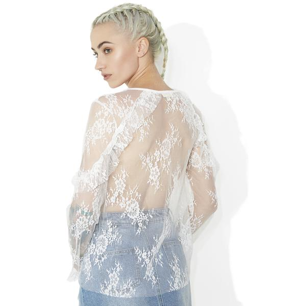 Just Like Heaven Lace Top