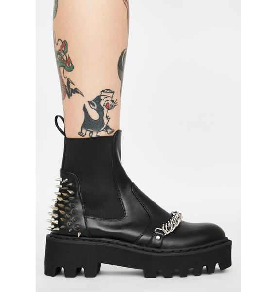 Current Mood Daughter Of Anarchy Spiked Boots