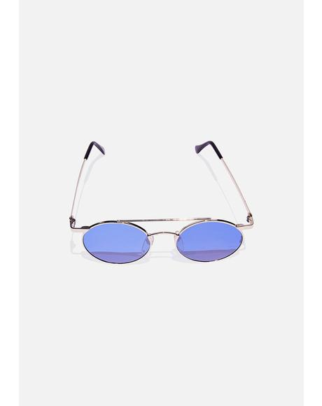 Gold Zackly Aviator Sunglasses