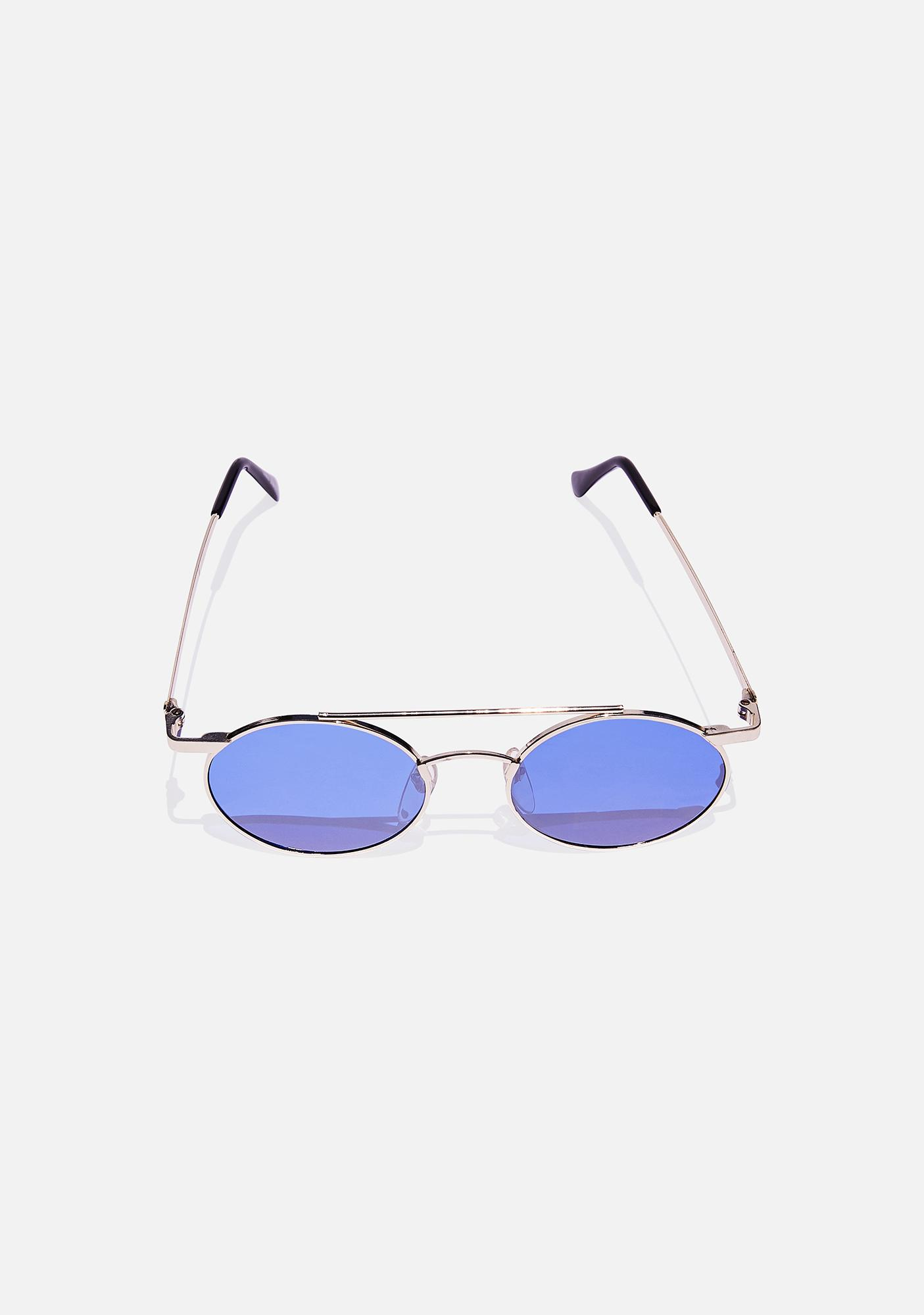 Good Times Eyewear Gold Zackly Aviator Sunglasses