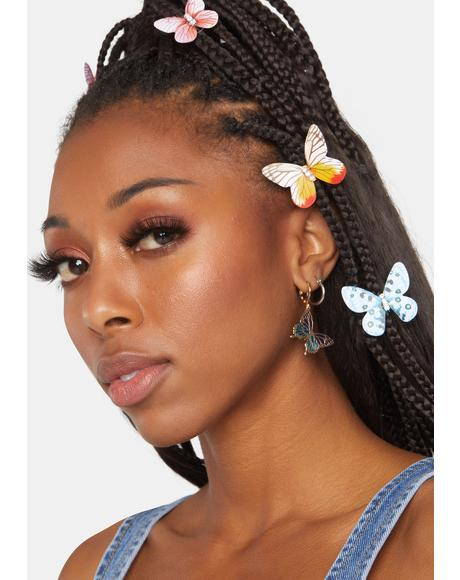 Onwards And Upwards Butterfly Earrings