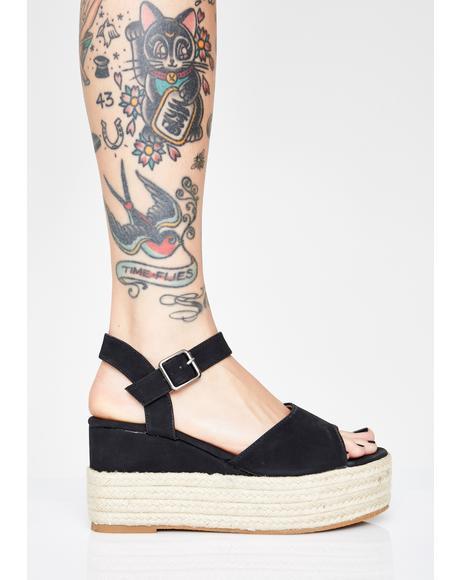 Glossy Posse Platform Sandals