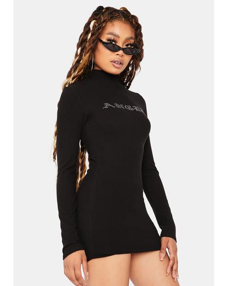 Heaven On Earth Angel Long Sleeve Mini Dress