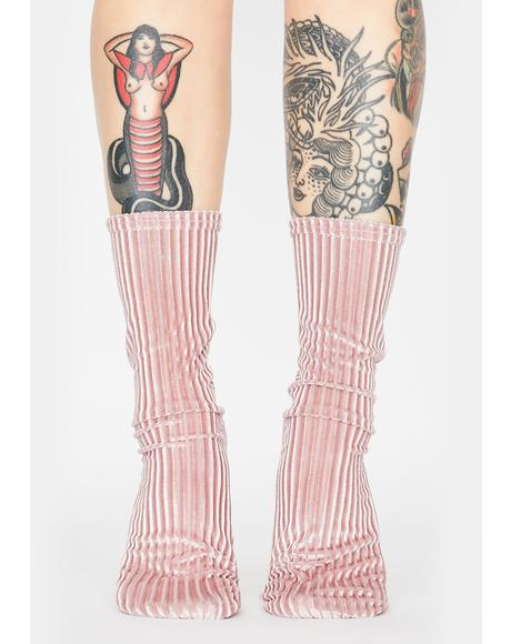 Lavender Trixie Velvet Socks
