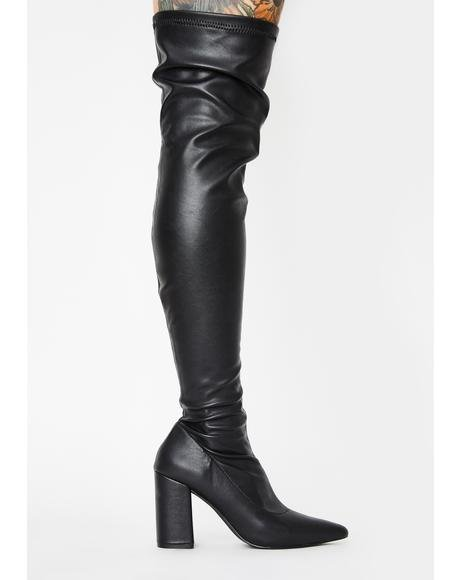 Fantasized Lie Thigh High Boots