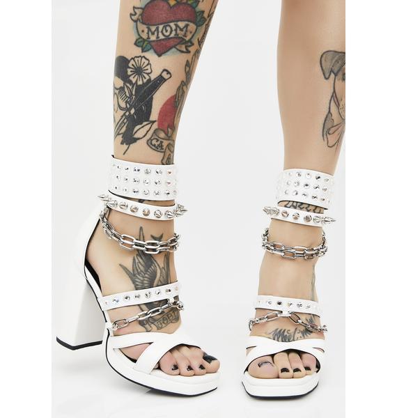Current Mood Daredevil Chain Heels