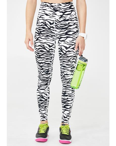 Zebra Runner High Waist Leggings