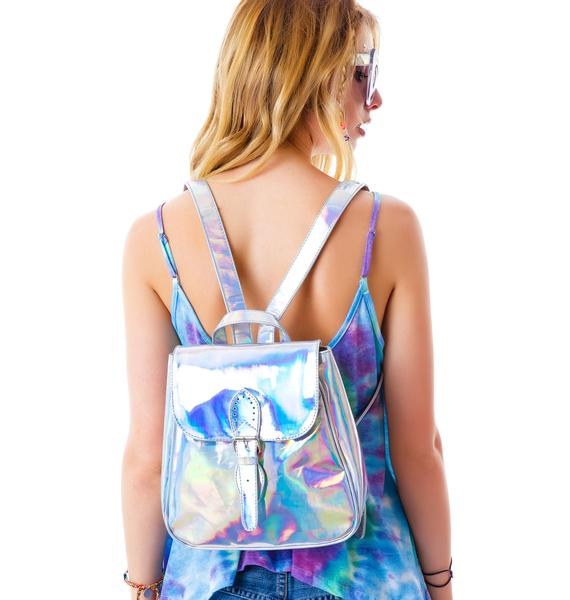 Motel Iridescent Hologram Backpack