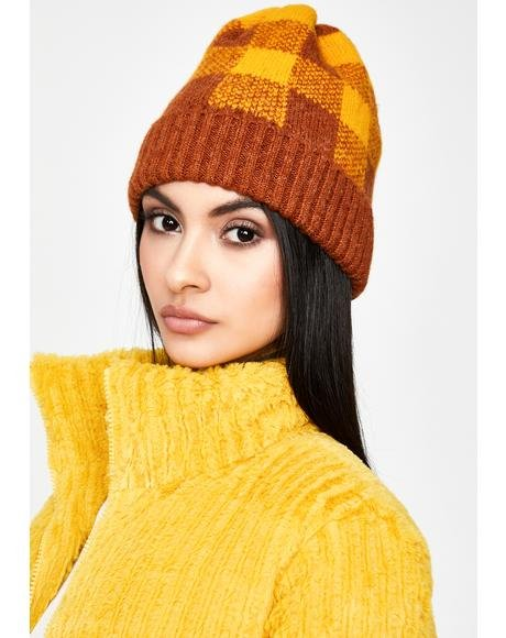 Honey Ain't Bothered Plaid Beanie