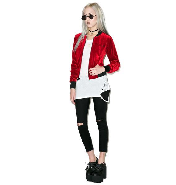 Killstar Bathory Velvet Bomber Jacket