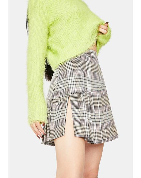 Depict Plaid Mini Skirt