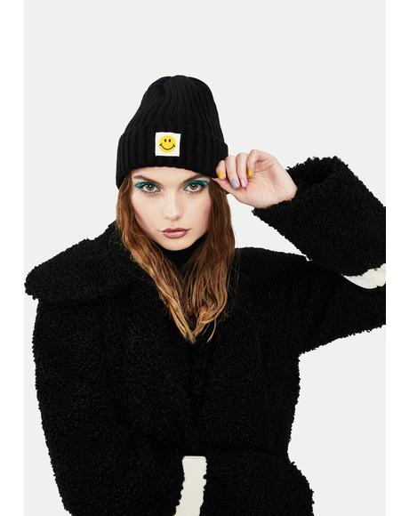 Happiness Ribbed Beanie