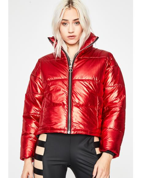 Hypnotic Icon Metallic Puffer Jacket