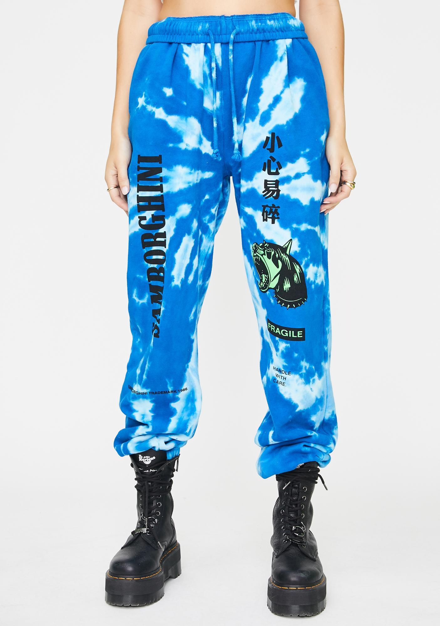 Samborghini Barking Dog Tie Dye Sweatpants