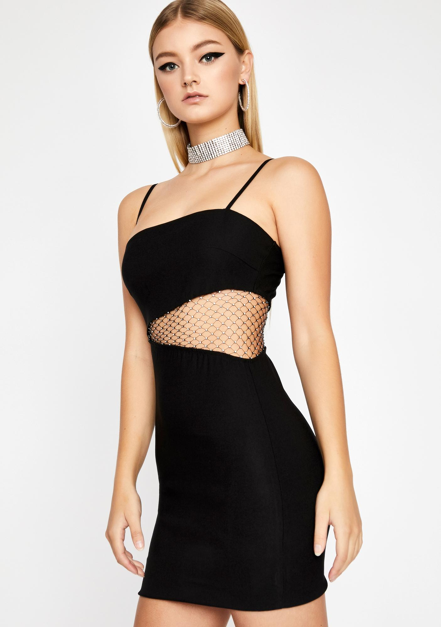 Diva Drip Cut-Out Dress