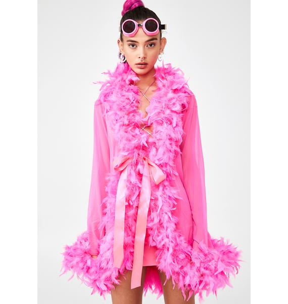 Candy No Presha Feather Robe