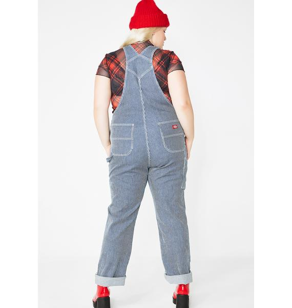 Dickies Girl Hickory Stripe Overalls