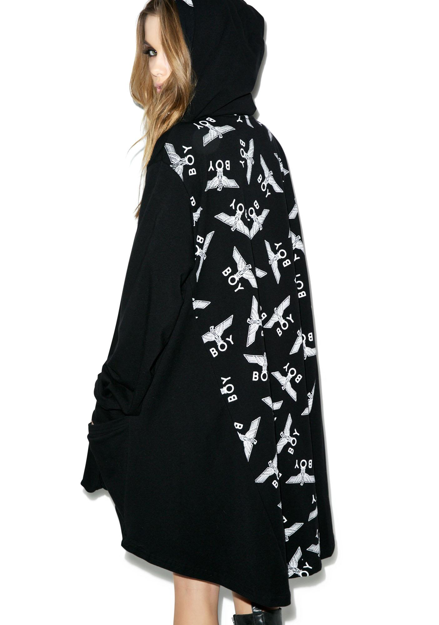 BOY London Allover Eagle Cape Coat