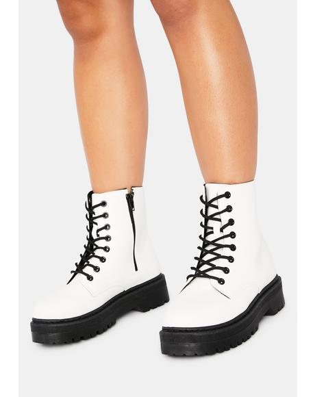 Fight For It Combat Boots