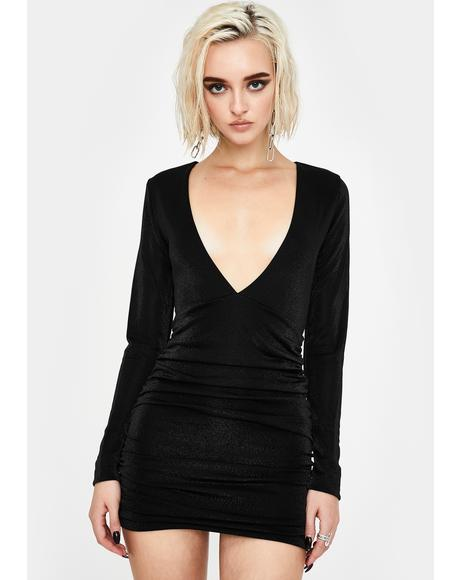 Don't Stop Now Plunge Dress