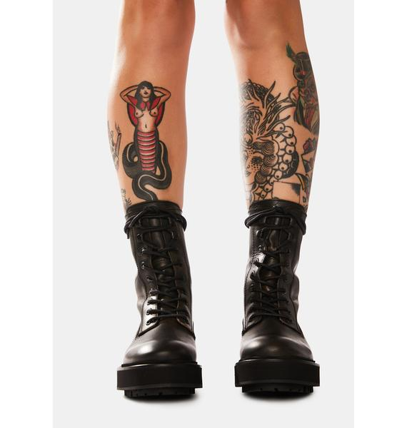 Free People Collins Leather Combat Boots