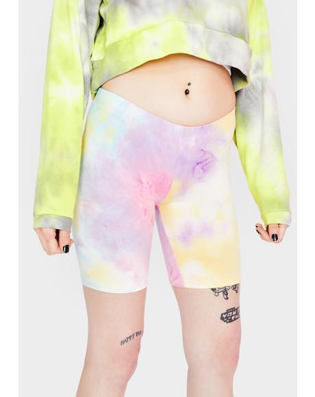 Beach Baller Tie Dye Bike Shorts