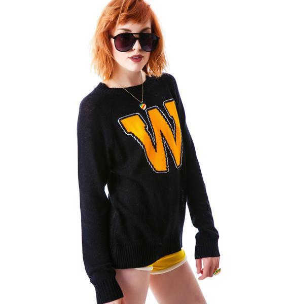 Wildfox Couture Roller Disco Mini 70's Sweater
