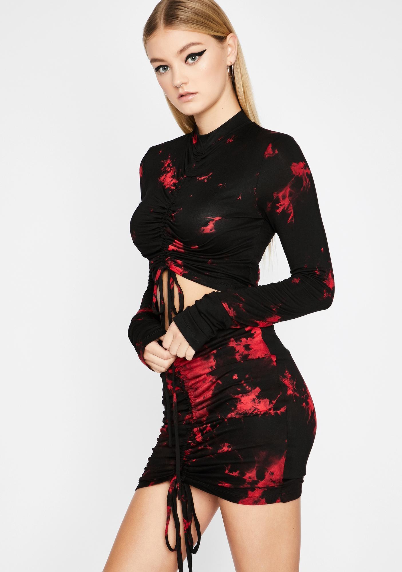 Twisted Fling Ruched Skirt Set