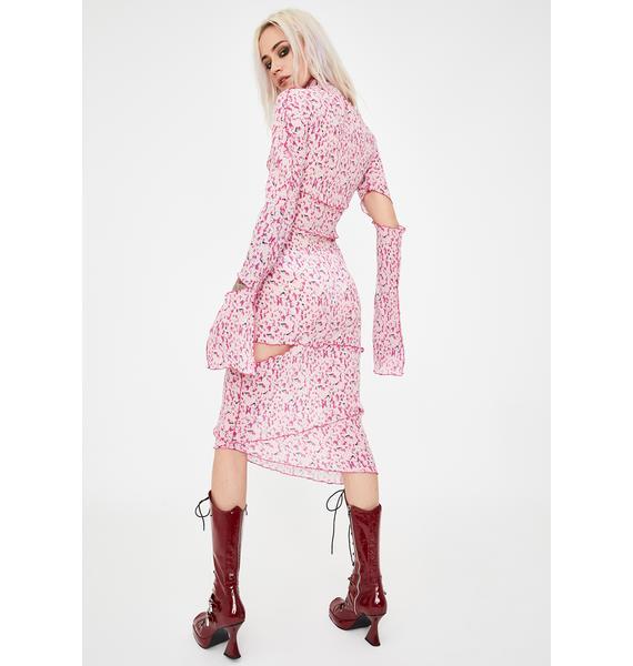 No Dress Floral Patchwork Midi Dress